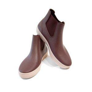 IGOR Basket Ankle Rain Boots Maroon Burgundy